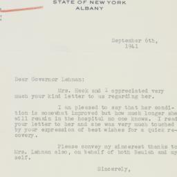 Telegram : 1941 September 6