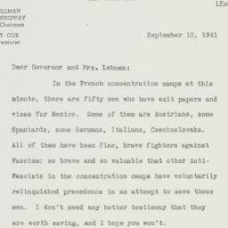 Letter : 1941 September 10