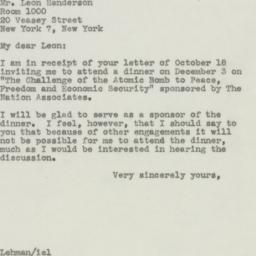 Speech: 1945 October 20