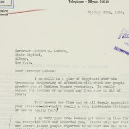 Letter : 1936 October 28