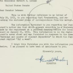 Letter: 1951 August 8