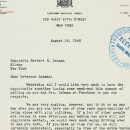 Letter : 1940 August 16