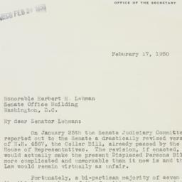 Letter : 1950 February 17