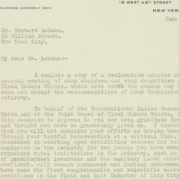 Letter : 1926 June 10