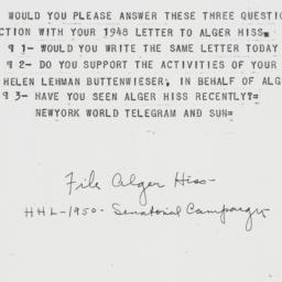 Memorandum : 1950 October 23