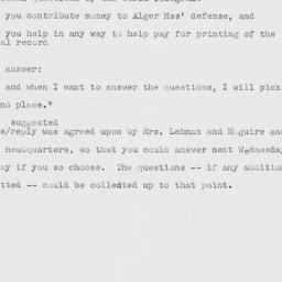 Memorandum : 1950 October 27