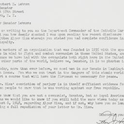 Letter : 1950 October 30
