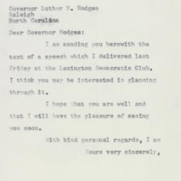 Letter : 1957 January 22