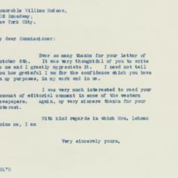Invitation : 1938 October 11