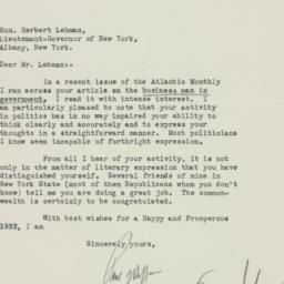Letter : 1932 January 4