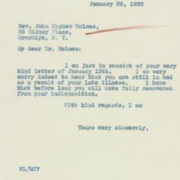 Pamphlet : 1933 January 20
