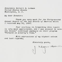Letter: 1952 May 23