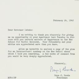 Note : 1947 February 24