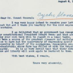 Letter: 1941 August 6