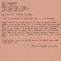 Note : 1945 February 9