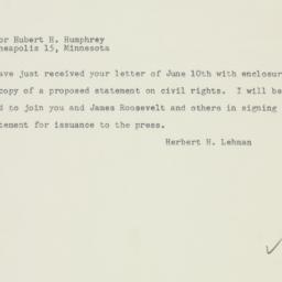 Letter: 1948 June 15