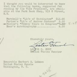 Letter : 1952 January 31