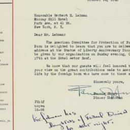 Letter: 1946 October 14