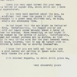 Letter: 1961 August 11