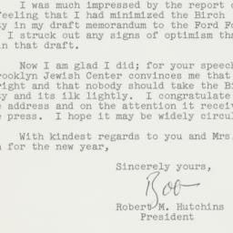 Letter: 1961 December 29
