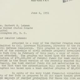 Letter: 1951 June 6