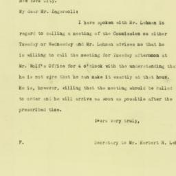 Letter: 1925 August 29