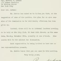 Letter: 1925 November 25