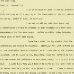 Letter: 1925 November 27