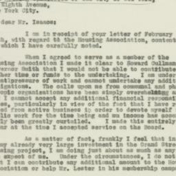Letter : 1931 February 26