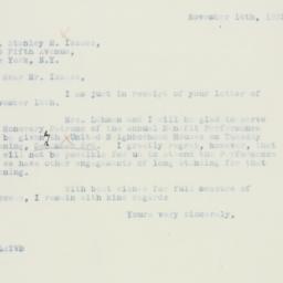Letter : 1935 November 14