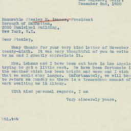Letter : 1938 December 2