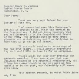 Letter : 1958 June 4