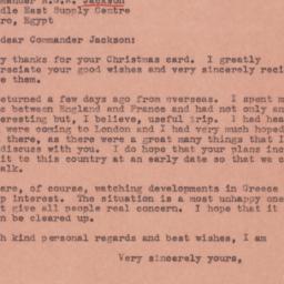 Letter: 1945 January 11