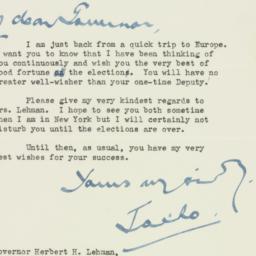 Letter: 1946 October 28