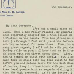 Letter : 1947 December 7