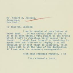 Letter: 1933 March 24