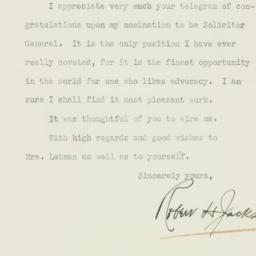 Letter : 1938 February 11