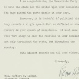 Letter: 1938 October 3