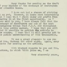 Letter: 1954 February 22