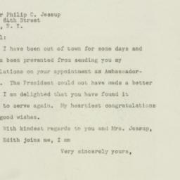 Letter : 1949 February 18