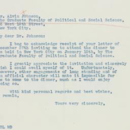 Letter: 1936 January 2