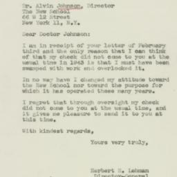 Letter: 1944 February 7