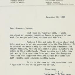 Letter : 1946 December 23