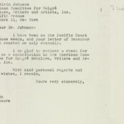 Letter : 1947 January 2