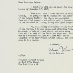 Letter : 1947 December 19