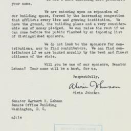 Letter : 1954 February 5