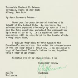 Letter : 1949 October 12