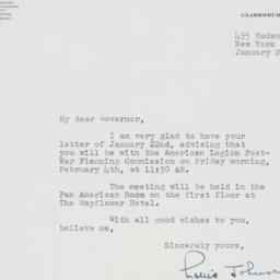 Letter : 1944 January 26
