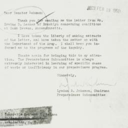 Letter : 1951 February 16
