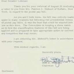 Letter : 1955 August 29